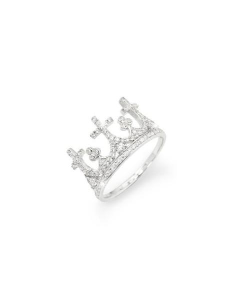 Anello Corona Zirconi